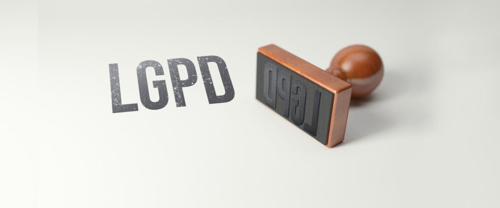 carimbo com a sigla LGPD